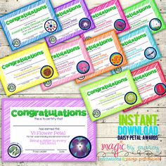 Daisy award certificates for flower petal badges, great way to recognize your little Daisies with a  cute award! Instant Download Digital Printable Daisy Girl by MagicbyMarcy