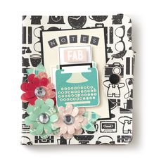 Check out this lovely notebook created using our Shimelle Collection. #americancrafts #shimelle