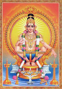 Ayyappan - Hindu Posters (Reprint on Paper - Unframed)