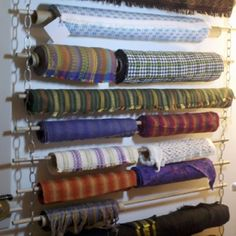 Fabric Roll Storage Idea Or Gift Wrap Storage