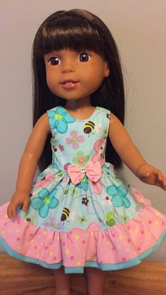 Wellie Wisher bumble and butterfly dress by Seamstress4littles