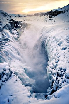 Gullfoss Waterfall . Iceland