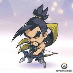 Dwaaa, he's so tough and adorable I want a tiny hanzo now