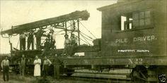 Chicago Great Western Railroad CGW Railway Pile Driver x 22   eBay