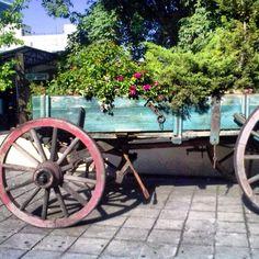 Carreta en plaza Loreto