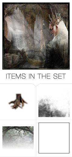 """The King of These Halls"" by artisticjester ❤ liked on Polyvore featuring art, TheHobbit, king, Thranduil and elvenking"