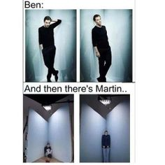 Martin Freeman being funny, totally opposite of Benedict's cool and sexy.