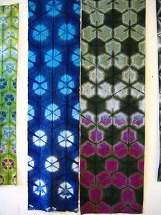 Itajime shibori panels