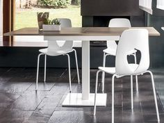 Ideal Sedia modern Kiev dining table in wenge veneer, extendable up ...