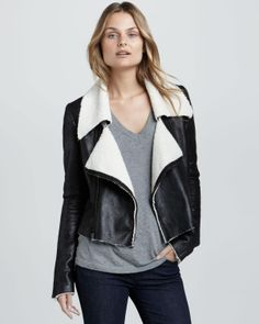 love this black leather jacket
