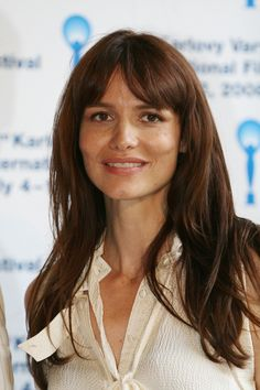 The actor, Saffron Burrows, is exotic-looking.