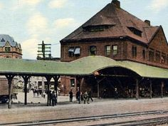 River side of Union Station 1800's, New London, CT.