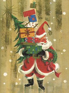 Image from vintage Christmas card. Design by Ralph McConnell for California Artists.
