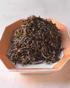 Herbed Wild Rice Recipe.  This would be a great Fall side dish to serve with cornish game hens.