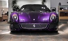 #purple #wedding #car Maserati, Lamborghini, Bugatti, Ferrari 488, Luxury Sports Cars, Nissan, Purple Love, Purple Rain, Purple Things