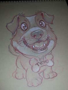 """refurbthecat: """"Tycho, as drawn by the amazingly talented tattoo artist Tara Quinn I'm in awe """" Well I like Dogface, so there."""