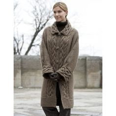 Cable Car Coat - Knitting Patterns - Patterns   Yarnspirations