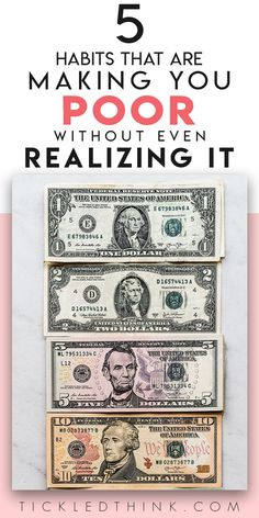 5 ways you're wasting money without even knowing it Are you throwing away your hard-earned money without you even realizing it? There are so many people who waste their money everyday without Ways To Save Money, Money Tips, Money Saving Tips, Money Hacks, Saving Ideas, Budgeting Finances, Budgeting Tips, Living Below Your Means, Financial Tips