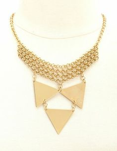 Geo Chain Link Necklace: Charlotte Russe