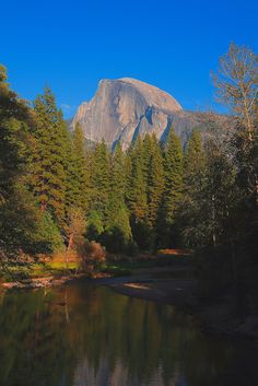 Half Dome And Merced River, Yosemite National Park, California.I would love to go see this place one day.Please check out my website thanks. www.photopix.co.nz