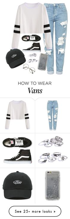 """""""Very cute, yet simple 9"""" by lollypopz951 on Polyvore featuring Topshop, Vans and Agent 18"""