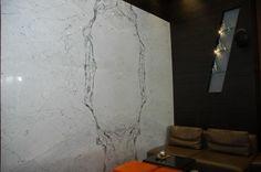 Wall cladding with Carrara Venato marble