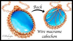 How to wire macrame cabochon. In this tutorial I show you how to capture a cabochon using wire macrame. Please feel free to give it a go yourself and I hope you enjoy. Wire Pendant, Wire Wrapped Pendant, Wire Wrapped Jewelry, Wire Jewelry, Jewellery, Drum Pendant, Jewelry Making Classes, Wire Tutorials, Wire Jig