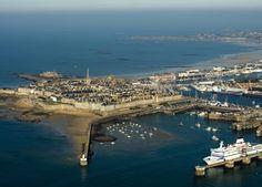 vue aérienne de St-Malo lors de la Route du Rhum 2014
