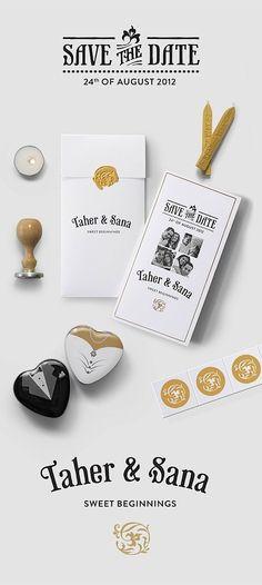 Awesome Wedding Invitations. Me gusta la combinación de colores y la idea del sello y el lacre