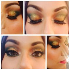 Green smokey eye perfect for mehendi