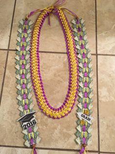 Money lei, ribbon lei, graduation gift