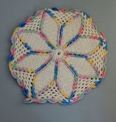 Handmade Vintage Crocheted Potholder 1930s 1940s by nonniesporch, $8.00