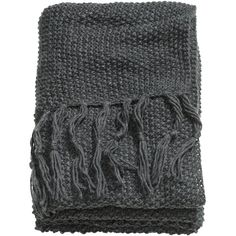 H&M Moss-knit blanket (€46) ❤ liked on Polyvore featuring home, bed & bath, bedding, blankets, dark grey, knit blanket, charcoal gray bedding, dark grey bedding, charcoal bedding and knit bedding