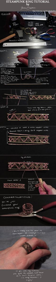 Steampunk ring tutorial by *bodaszilvia on deviantART