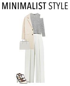 """Minimalist"" by waila-3 ❤ liked on Polyvore featuring Iris & Ink, Zara, MANGO and Valentino"
