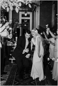 Sparkler Exit | Justine's Secret House Wedding