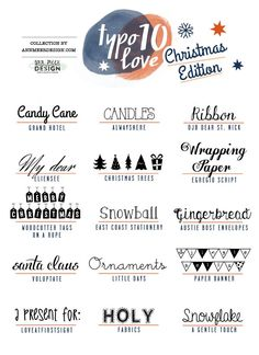 lovely Fonts #10: Christmas!