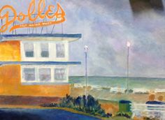 Finished painting for friend, Linda. Hope she likes it as she purchased it quite a while ago but I didn't have it finished. #Delaware #Dolle's. An institution!  Painting by n taylorcollins  (C)2014. May repost as long as proper credit is given.