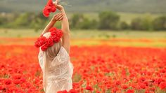 Image result for women happy in flowers