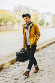 great way to introduce BOLD color into an outfit, most men are afraid of using such colors