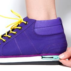 A shoe with a zipper in the sole. #shoe #fashion #YankoDesign