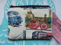 Handmade Coin Purse Cath Kidston Train Fabric by MadeByRachelx