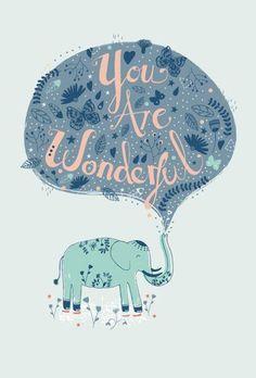 Reminder: you are wonderful. #positivitynote #upliftingyourspirit