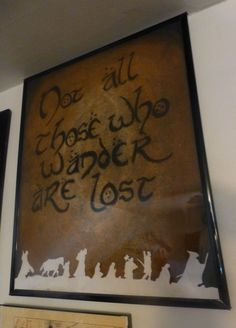 Lord of the Rings Tribute Not all Those Who by BombshellsExploits, $30.00