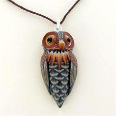 Fioré Clay Owl Adjustable Necklace by Jon Stuart Anderson $89.50