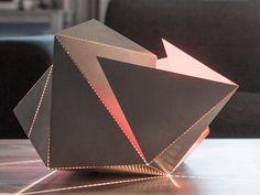 Design Lighting Ideas : The Folding Lamp Makes Origami Out Of Light Folding Architecture, Architecture Design, Condominium Architecture, Origami Lamp, Unique Lamps, Paper Folding, Room Lights, Modern Interior Design, Lighting Design