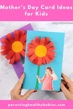 This simple tutorial will show you how to make a cool paper flower Mothers day craft, a project that's really great to make in the classroom. Source by easypeasyandfun Mothers Day Crafts For Kids, Paper Crafts For Kids, Crafts For Kids To Make, Diy Paper, Fun Crafts, Art For Kids, Diy And Crafts, Card Crafts, Mother's Day Projects