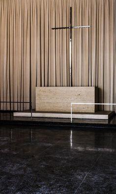 Ludwig Mies van der Rohe   Interior of IIT's Robert F. Carr Memorial Chapel (aka, The God Box).