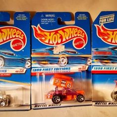Assorted 3 lot of HOT WHEELS 1998 FIRST EDITIONS #2, # 7, #37 of 48 #HotWheels