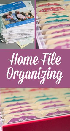 How to Organize Home Files! Easy DIY Tips for Organizing your Home!